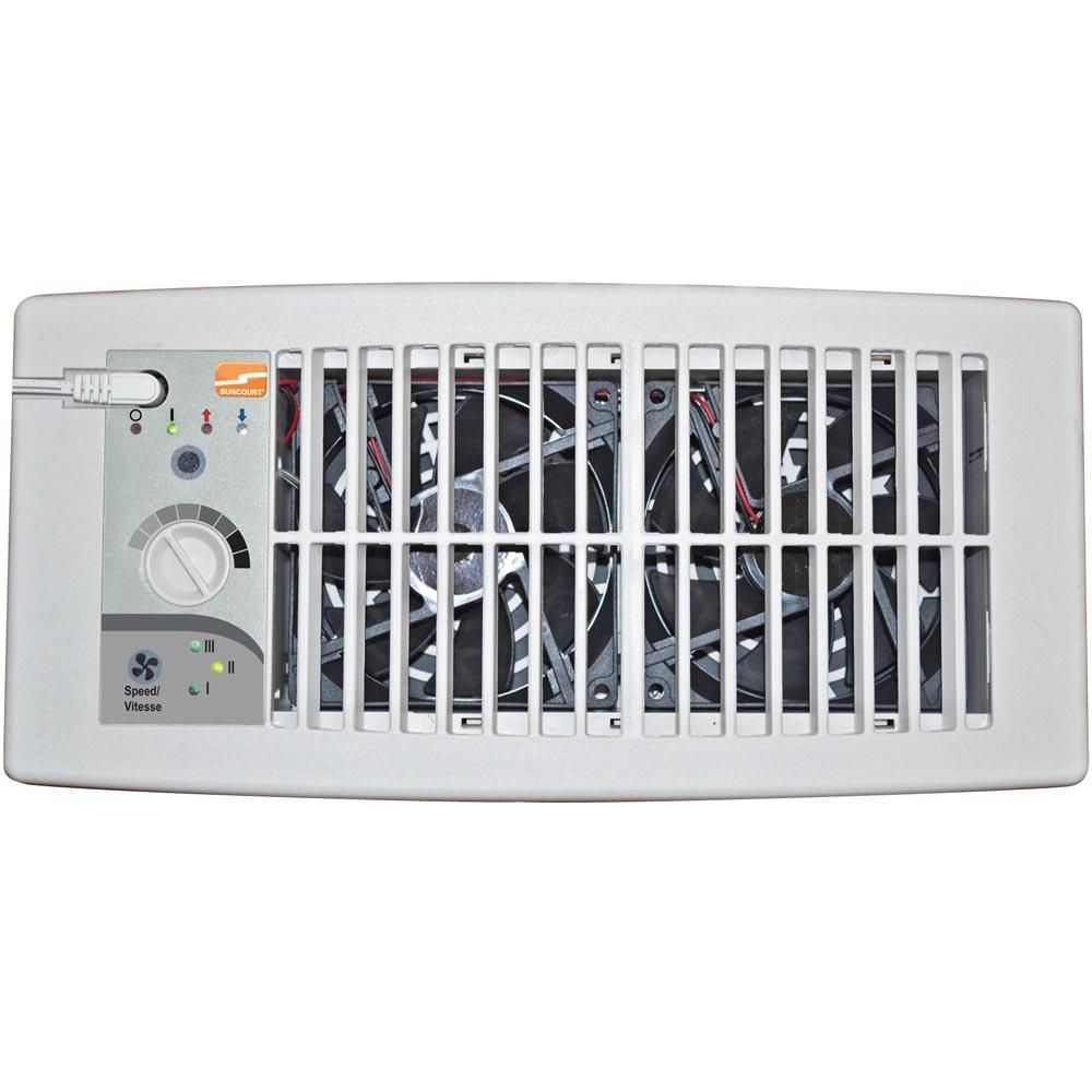 Suncourt Flush Fit Register Booster Fan In White Hc500 W The Home Depot Heating And Air Conditioning Home Improvement Booster