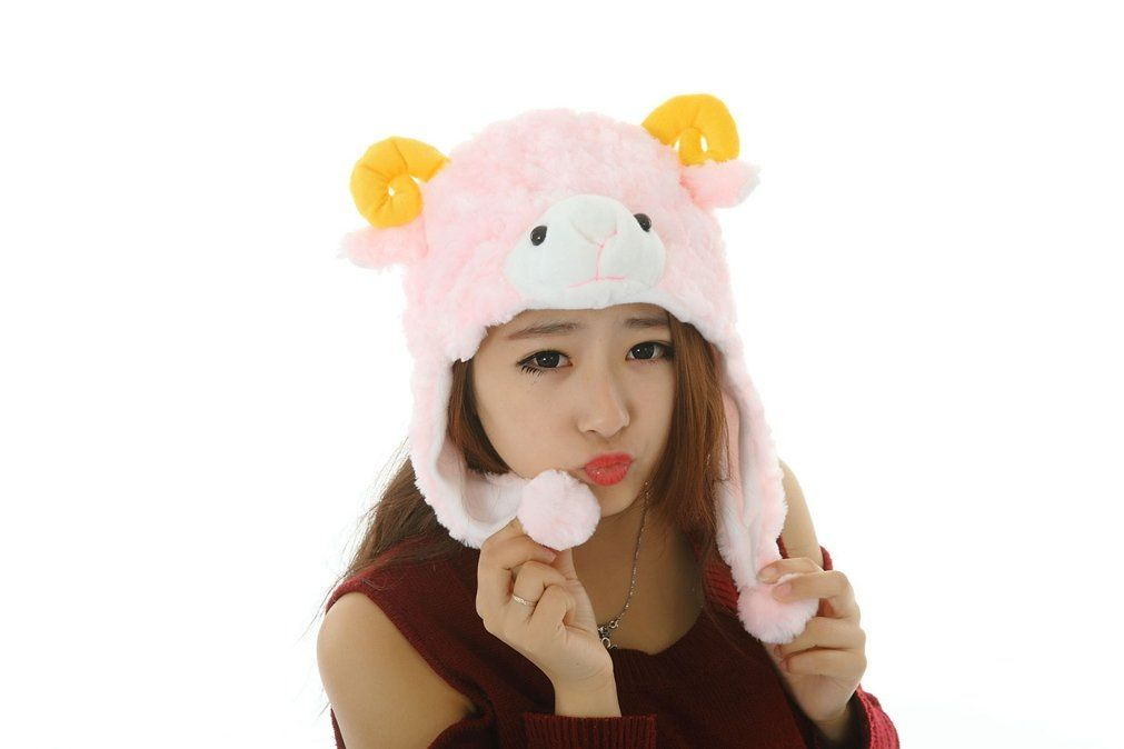 SAMGU Lovely Cartoon Animal Hat Winter Hat Fluffy Plush Hat Warm Cap Earmuff Gift Unisex. Hat circumference:63CM. Suitable for costume ball, party, show and other occasions. Protect your head, ears, cheeks, neck from cold. Size:One size fits most,Suitable for adults and children(for 5 years and up). Super Soft Short fuzzy material, good touch feeling.
