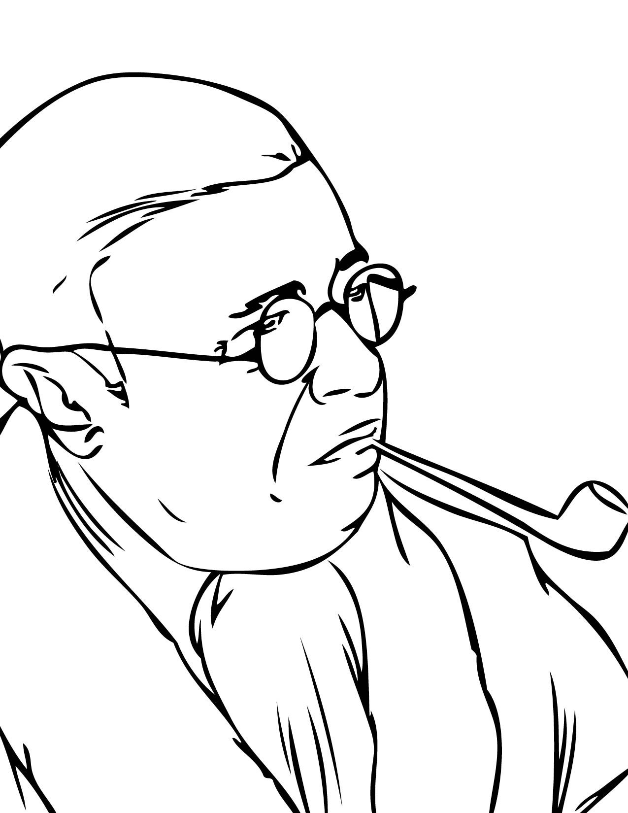 Sartre Coloring Page