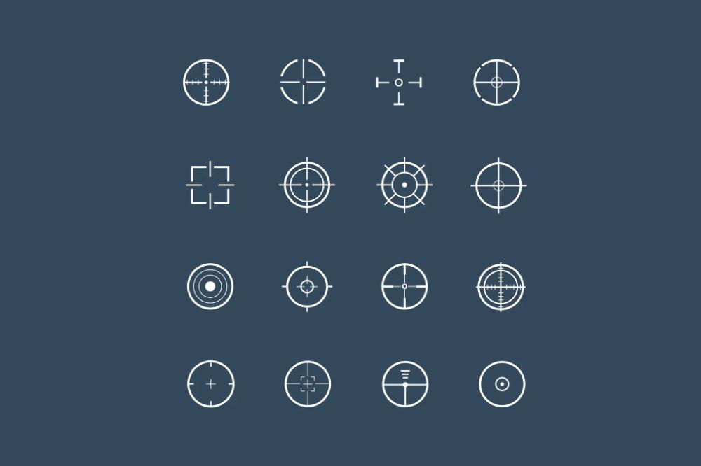 16 Crosshair Icons By Creativevip On Envato Elements Geometric Logo Design Icon Geometric Logo