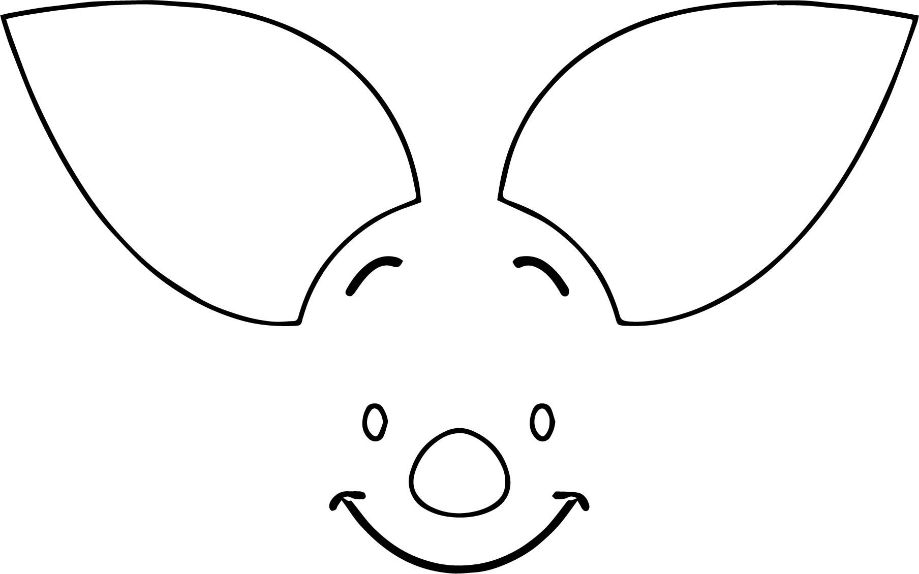 Awesome Piglet Face Coloring Page Piglet Face Coloring Pages