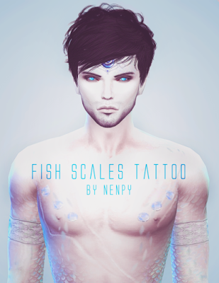 My sims 4 blog fish scales tattoo by nenpy sims 4 for Sims 4 fishing