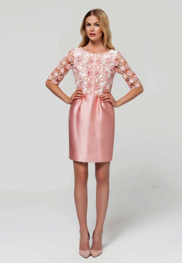 Laura Bernal Dress with Lace in Pink | Dream closet.... | Pinterest ...
