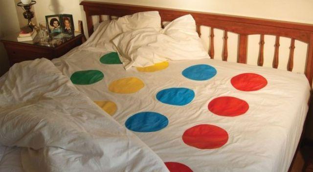 hahah Twister sheets.