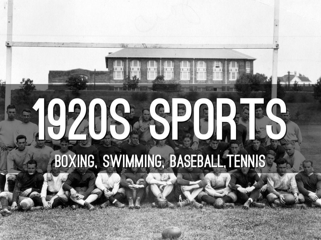 sports in the 1920s