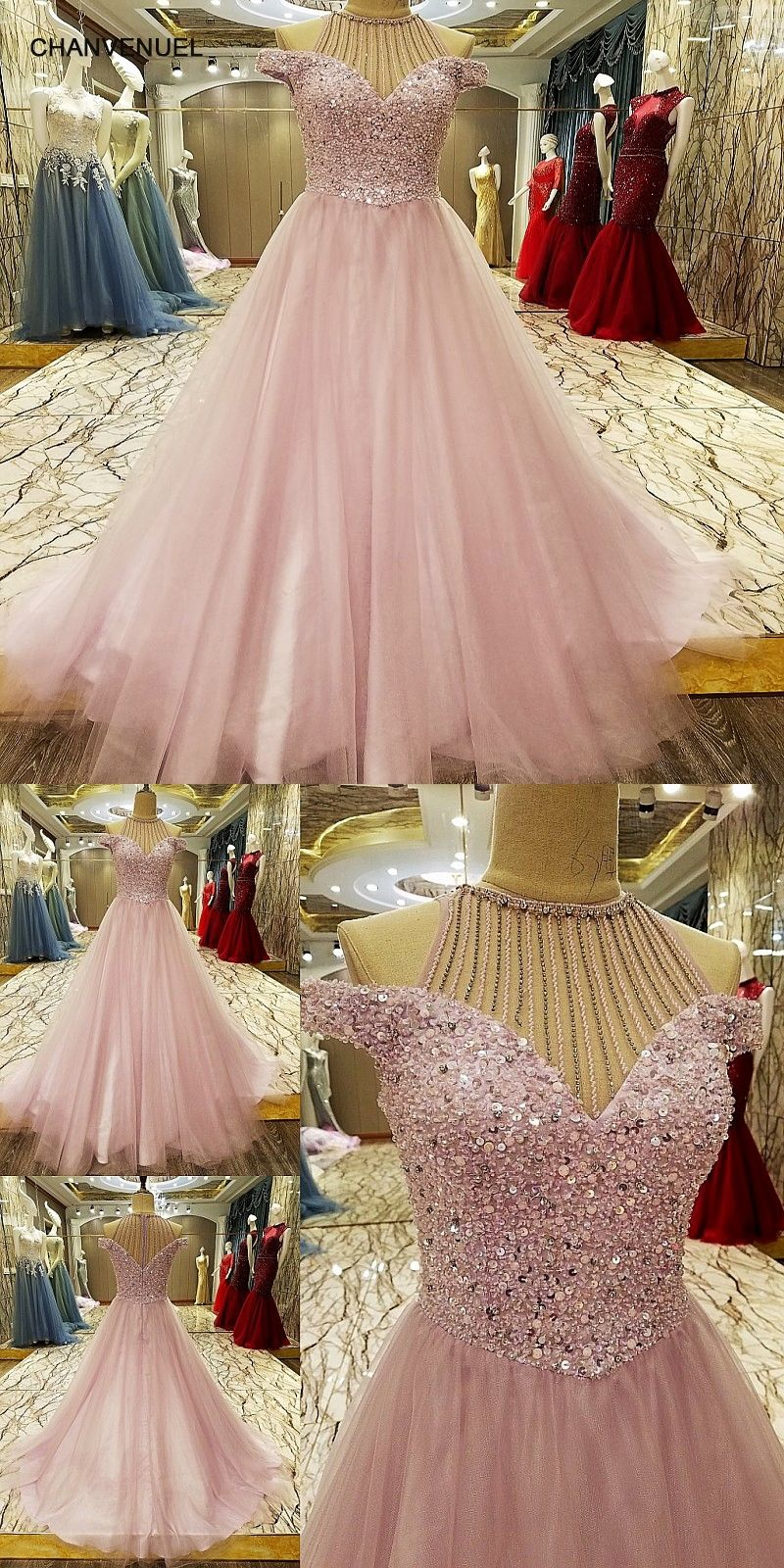 LS7333 Abendkleider Arabic Evening Gowns Dresses Rhinestone Arabic ...