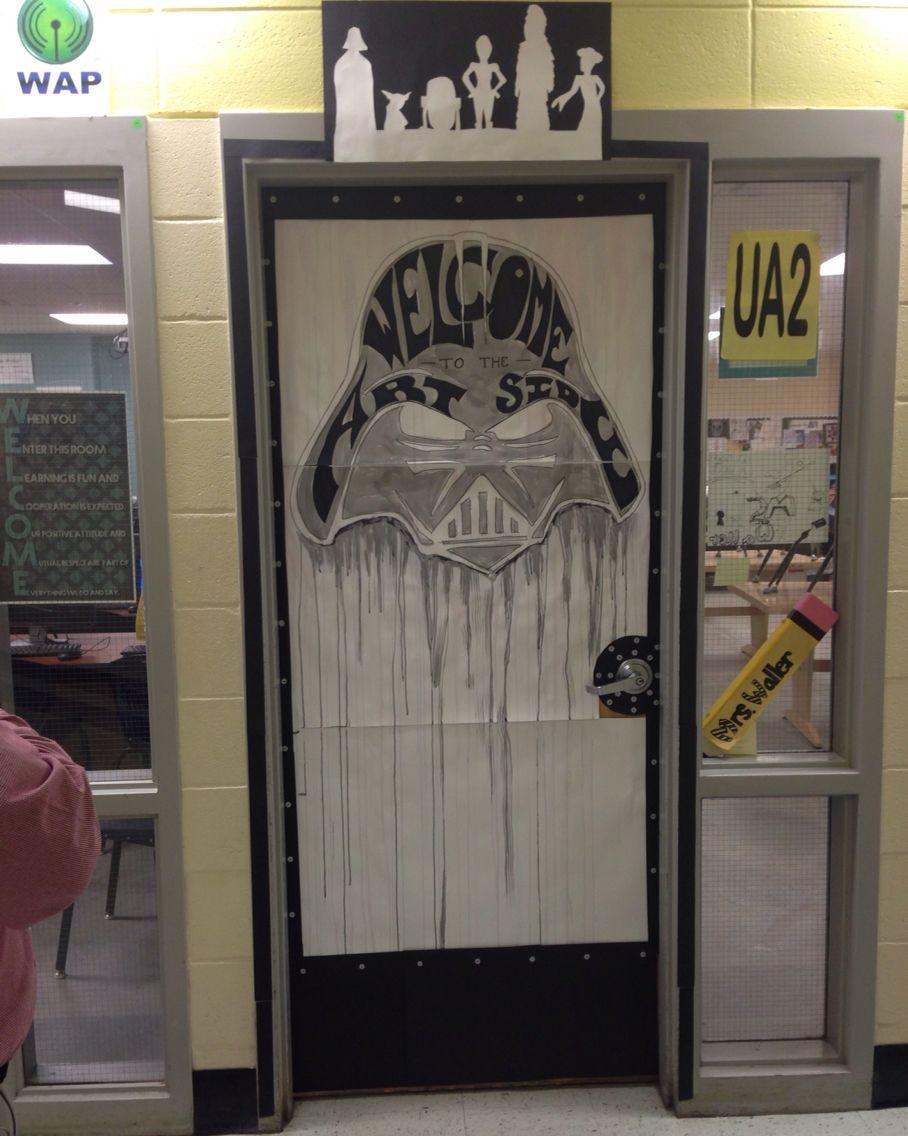 Cartoon classroom door - Classroom Door Decor Star Wars Pop Culture Welcome To The Art Side