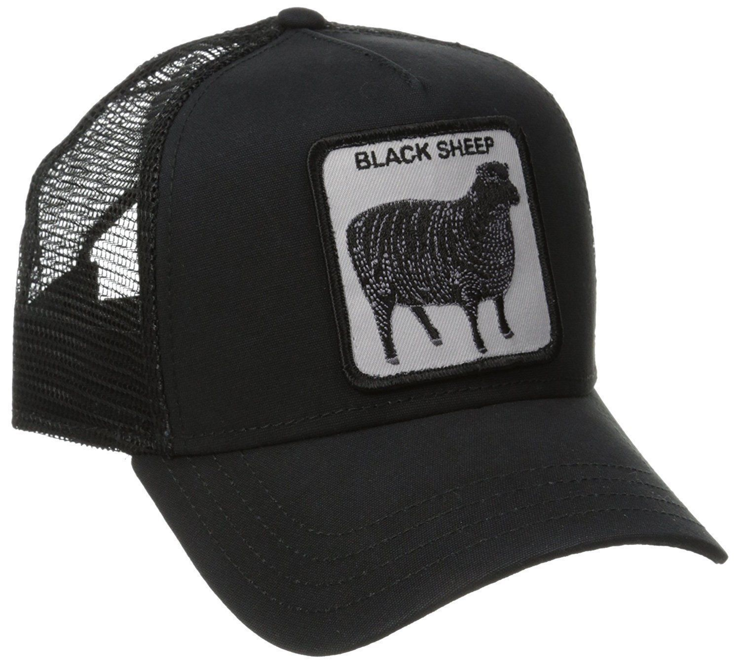 33dd35920ba62 Goorin Bros. Animal Farm Trucker Snapback Hat Cap All Black