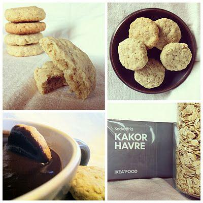 biscotti d'avena e cioccolata calda homemade