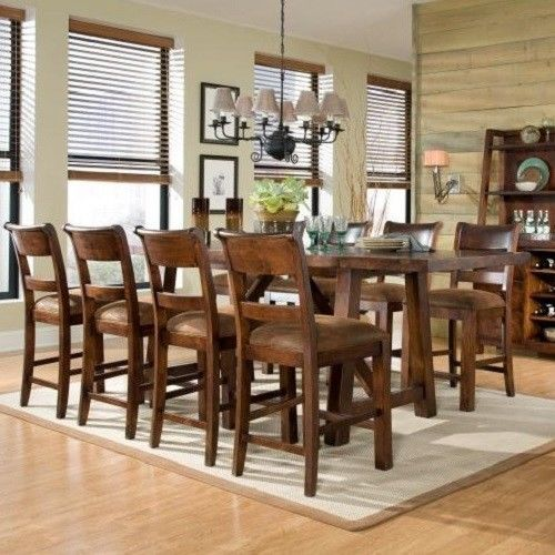 Gentil Woodland Ridge 9 Piece Dining Set 8 Chairs Furniture Solid Wood Table NEW  9pc #WoodlandRidge