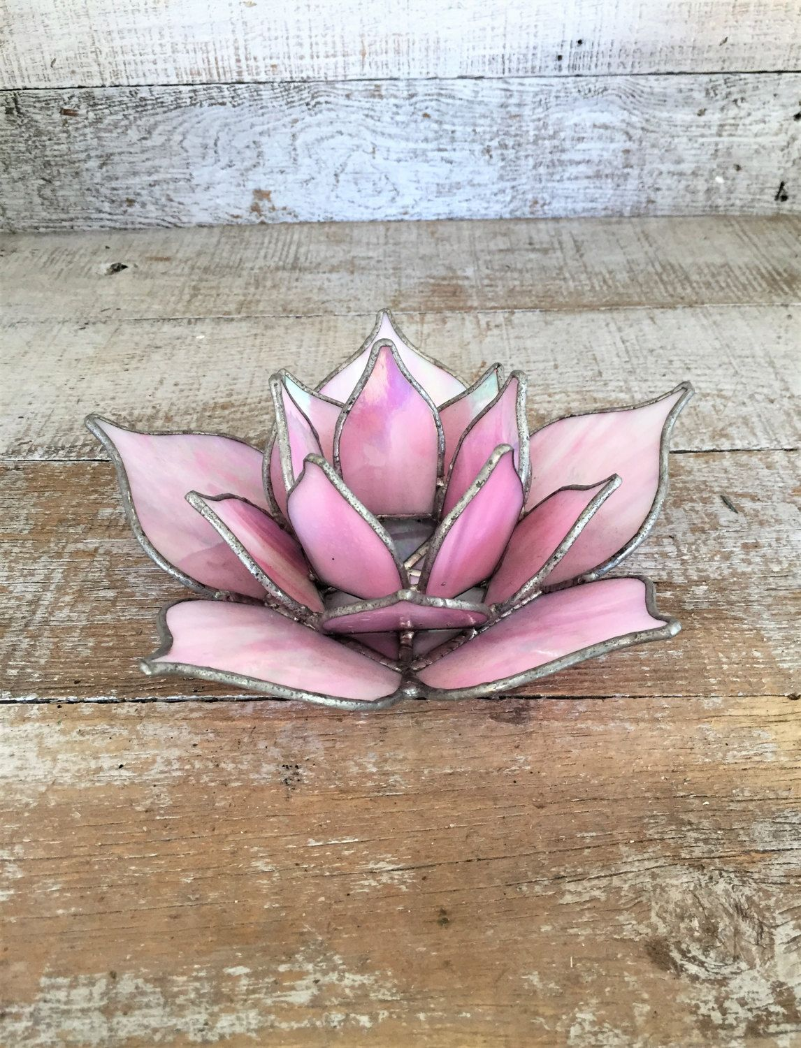 Lotus Flower Candle Holder Stained Glass Candle Holder Stained Glass