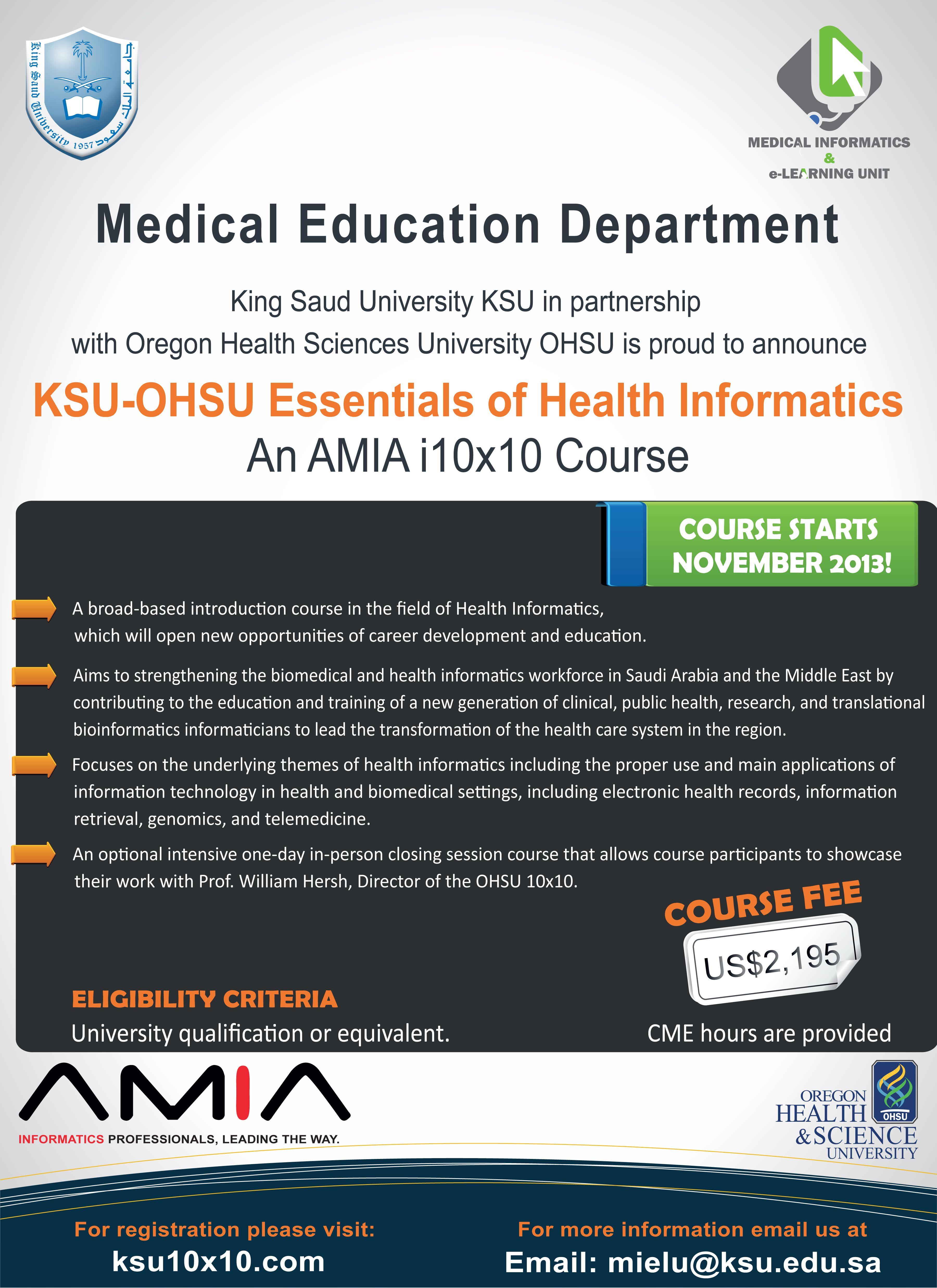 Medical Informatics Elearning Unit Ksumielu Profile Pinterest
