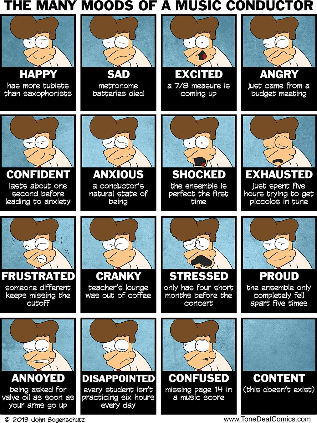 The Many Moods of a Music Conductor | Music! | Tone deaf