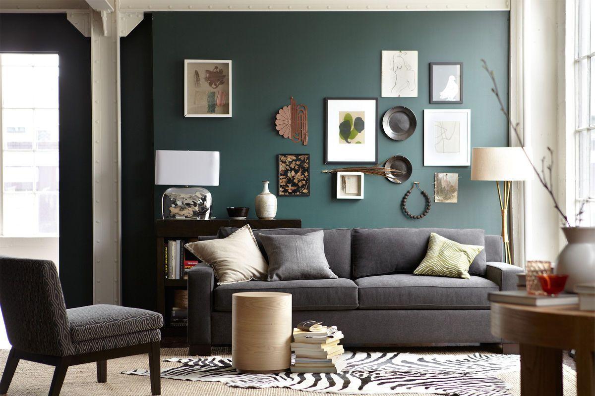 Sof Gray Dream Home Pinterest -> Sala Cinza Com Sofa Marrom