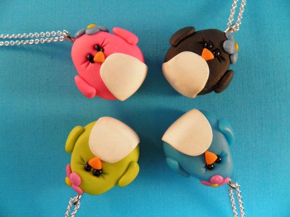 polymer clay craft ideas clay penguin pendants easy sunday afternoon sculpey 5226