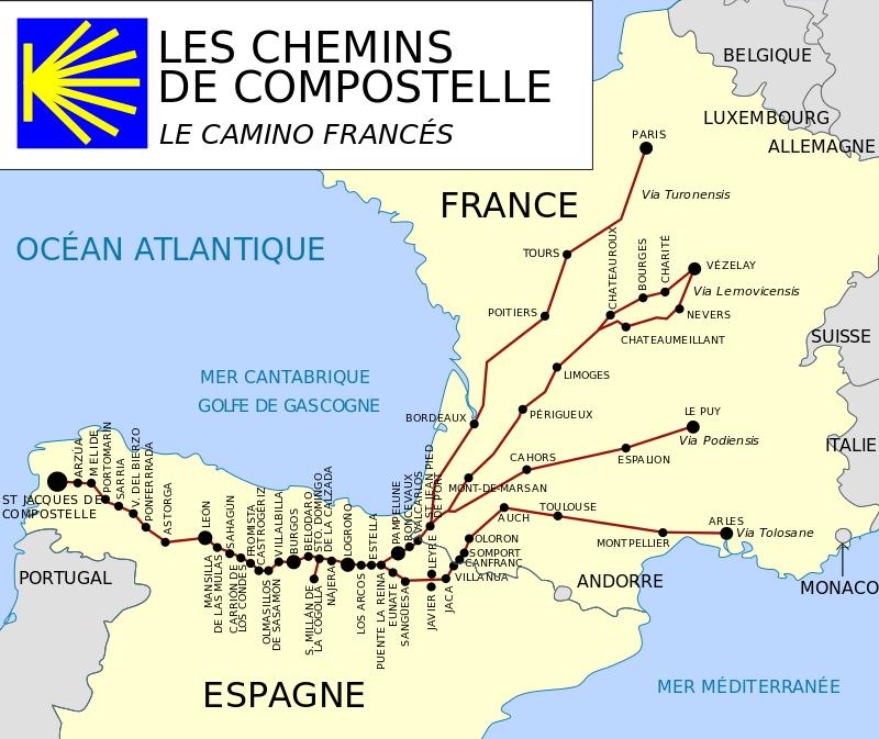 Camino Frances Saint Jacques De Compostelle Chemin De Compostelle St Jacques