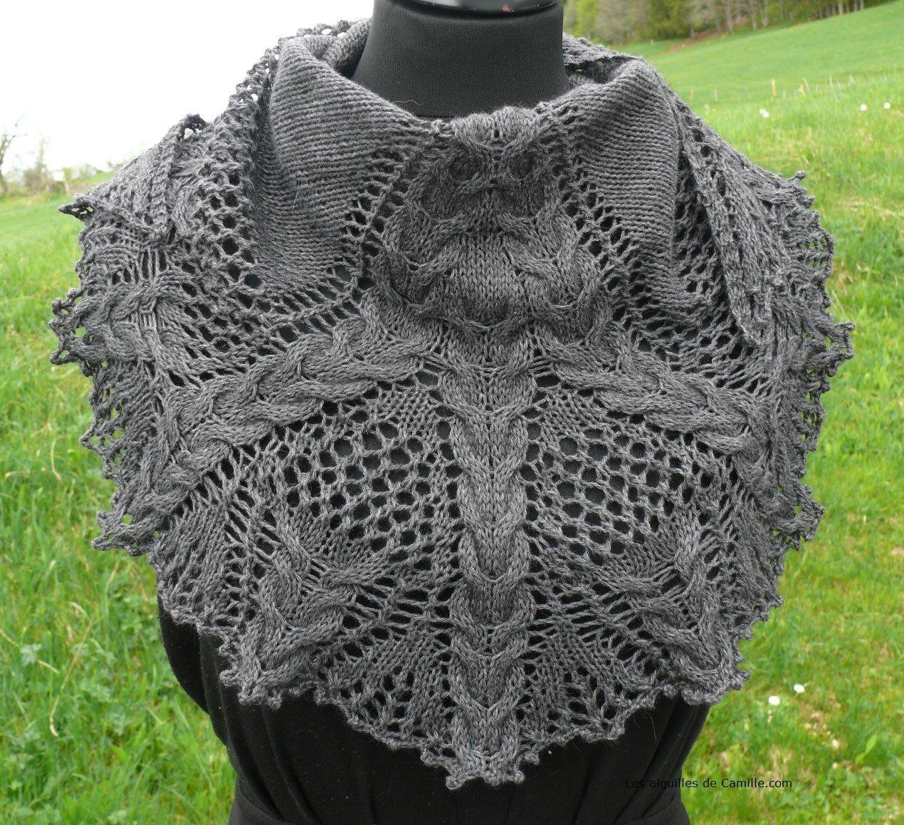 modele chales tricot crochet
