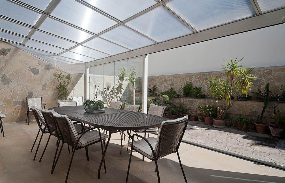Tettoie Mobili ~ Copertura con tenda a nuvoletta e vetrata panoramica coperture
