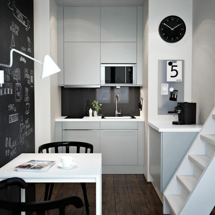 ikea küchen kleine küche einrichten weiße küchenschränke fronten ...