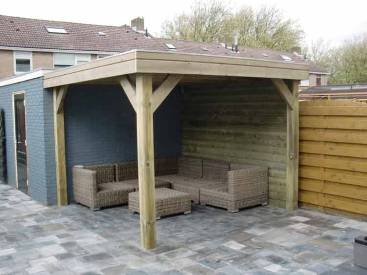Overkapping Aan Schuur : Wilt u een houten terrasoverkapping of een tuinhuis of schuur met
