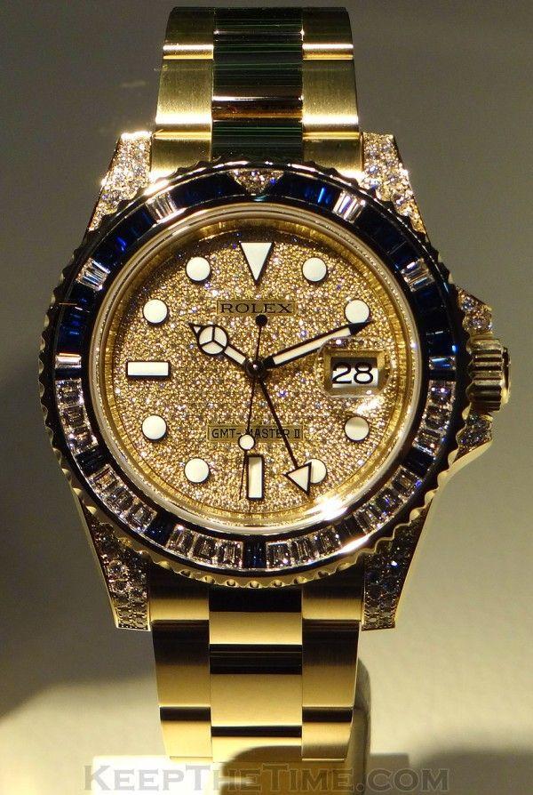 Rolex Watch Gold Diamond For Men
