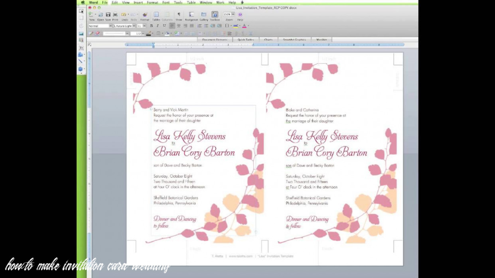 How To Edit A Wedding Invitation Template In Word Wedding Invitation Templates Wedding Invitations Wedding Cards