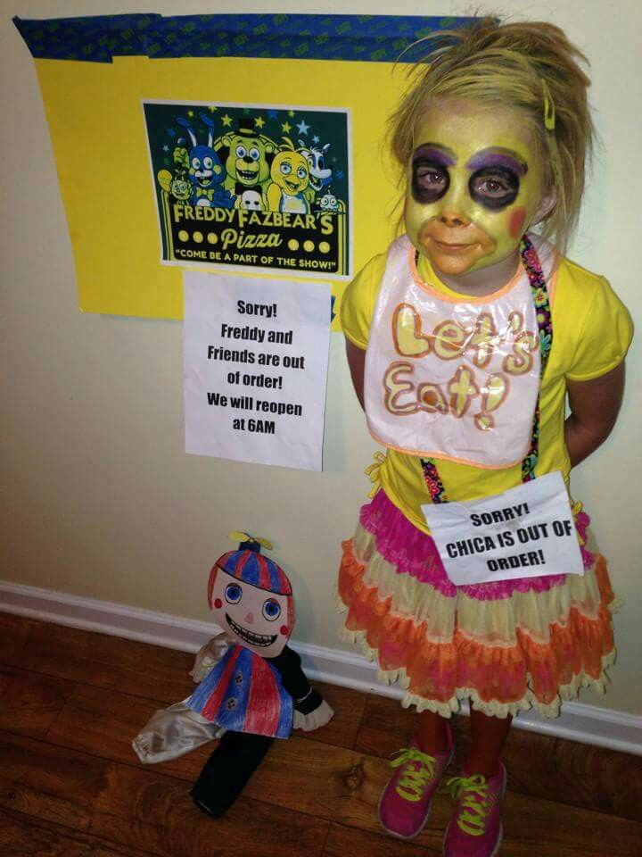 Five Nights At Freddys Nightmare Chica Kids Costume