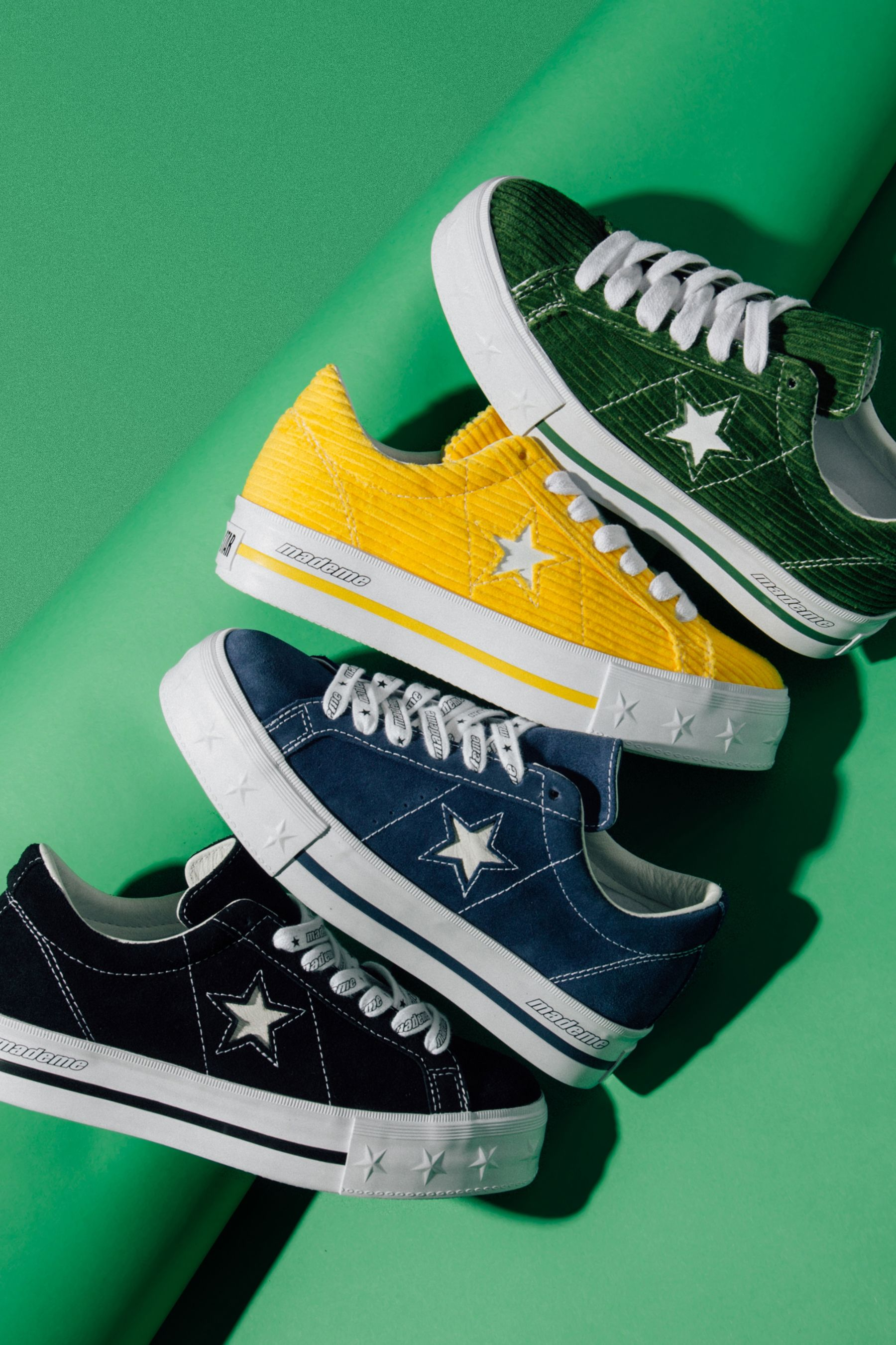 41720e410a147f Converse x MadeMe One-Star Platform Collection