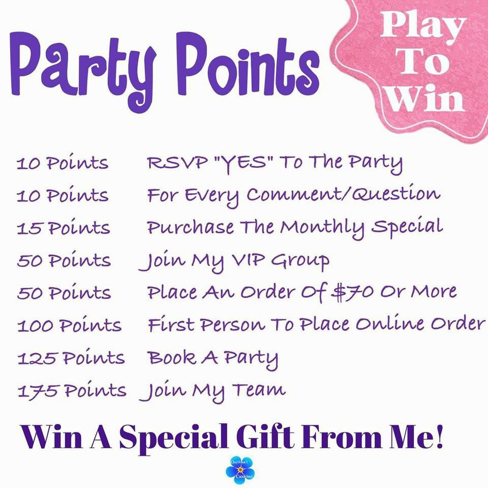 Points Thirty one games, Party points, Thirty one facebook