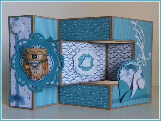 Card bleu turquoise