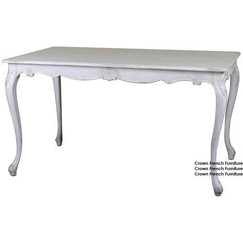 Louis French Antique White Dining Table Holiday Party Finals