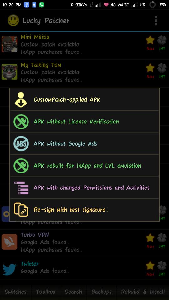 تحميل برنامج تهكير الالعاب لوكي باتشر الجديد بدون روت اندروبلاي Custom Patches Custom Android Games