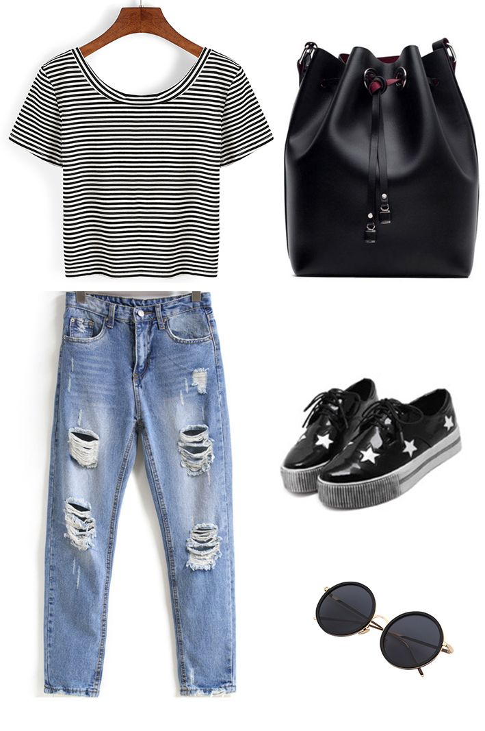 Transition to Summer - Great styling ideas for the striped t shirt