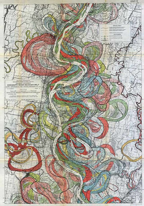 Gorgeous Vintage Maps Of The Mississippi Rivers Path Over Time - Mississippi river map