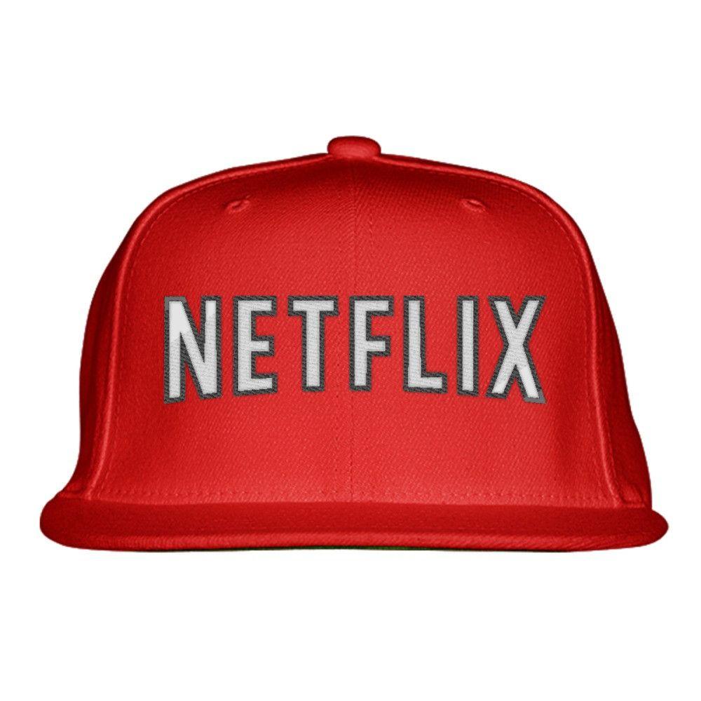 Netflix Embroidered Snapback Hat