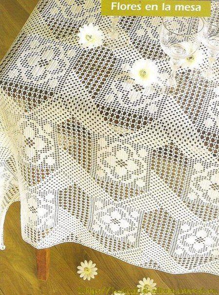 15 maravillosos modelos de manteles en ganchillo - Mantel de crochet ...