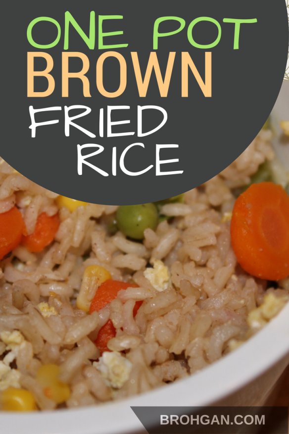One pot brown fried rice recipe fried rice brown rice and soy sauce easy this simple one pot recipe uses brown rice frozen veggies eggs and soy ccuart Choice Image