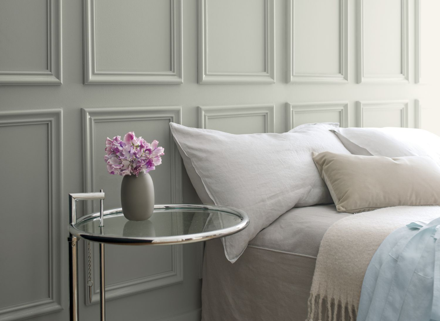 This calming, sophisticated shade is Benjamin Moore's