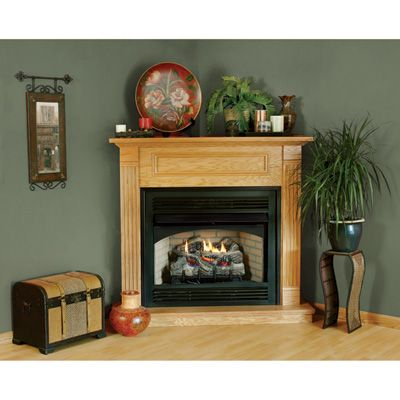 Procom Dual Fuel Vent Free Fireplace In 2019 Corner Fireplace