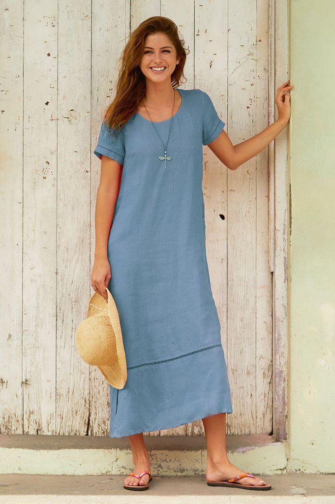3090a02dfe0 A beautiful everyday 100% linen midi dress
