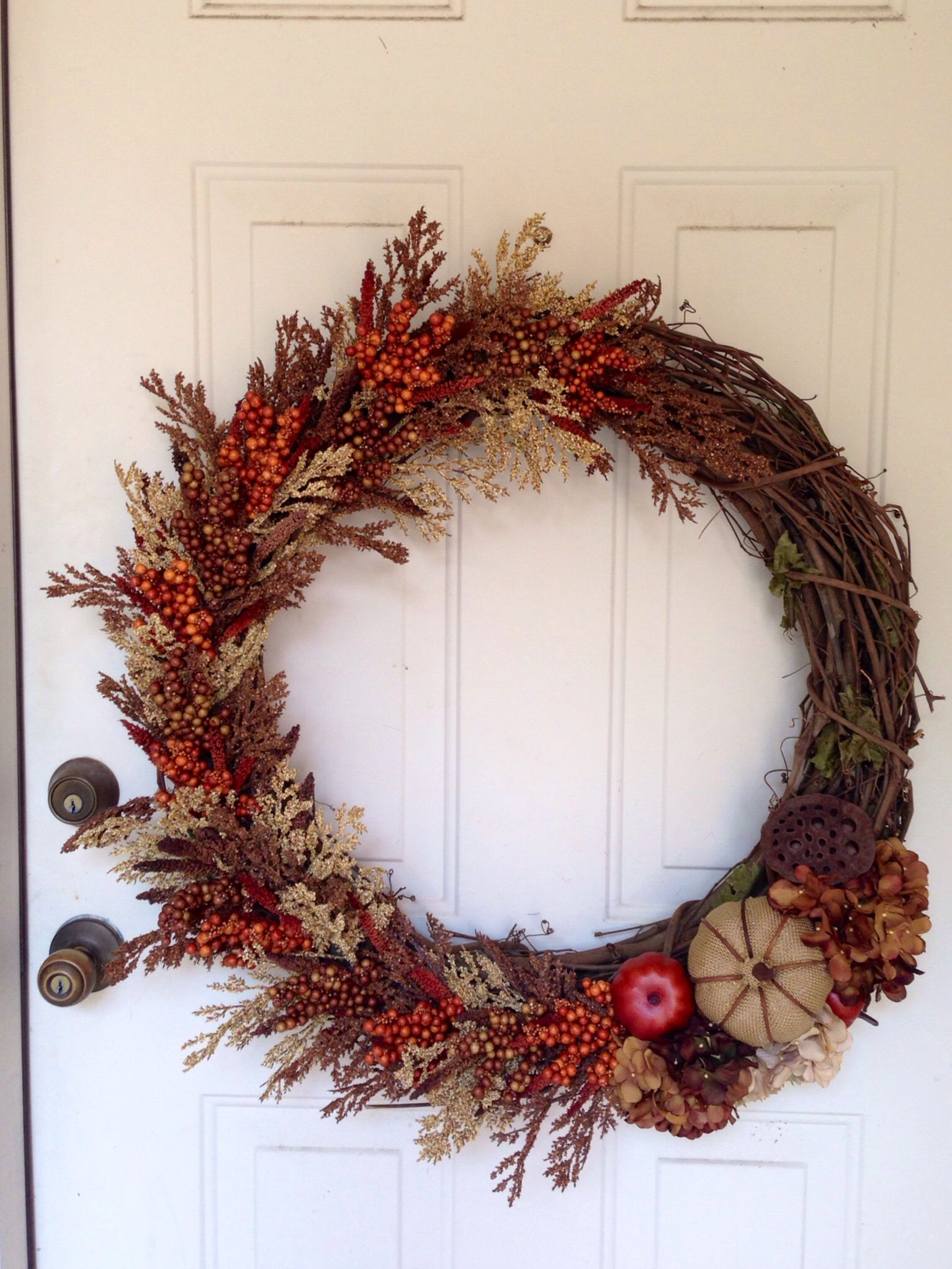 Fall wreath I made for my front door.
