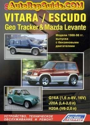 Download Free Suzuki Vitara Escudo Geo Tracker Mazda Levante 1988 1998 Repair Manual Image By Autorepguide Com Suzuki Mazda Repair Manuals