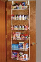 Over the Door Storage Rack Kitchen Pantry Shelf Organizer  eBay Over the Door Storage Rack Kitchen Pantry Shelf Organizer Spice Space Saver