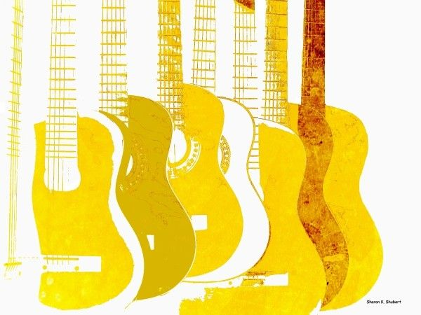 Yellow guitars
