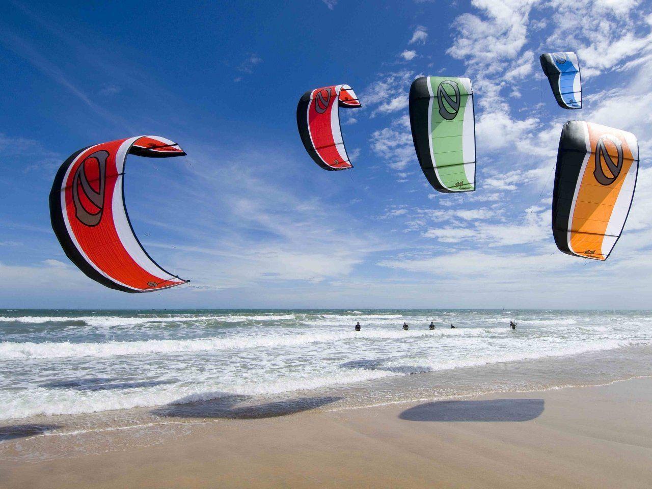 Download Freeride kitesurfing wallpaper A nice little Naish Kites