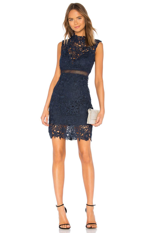 8d90aa1986 Bardot Paris Lace Dress in Twilight