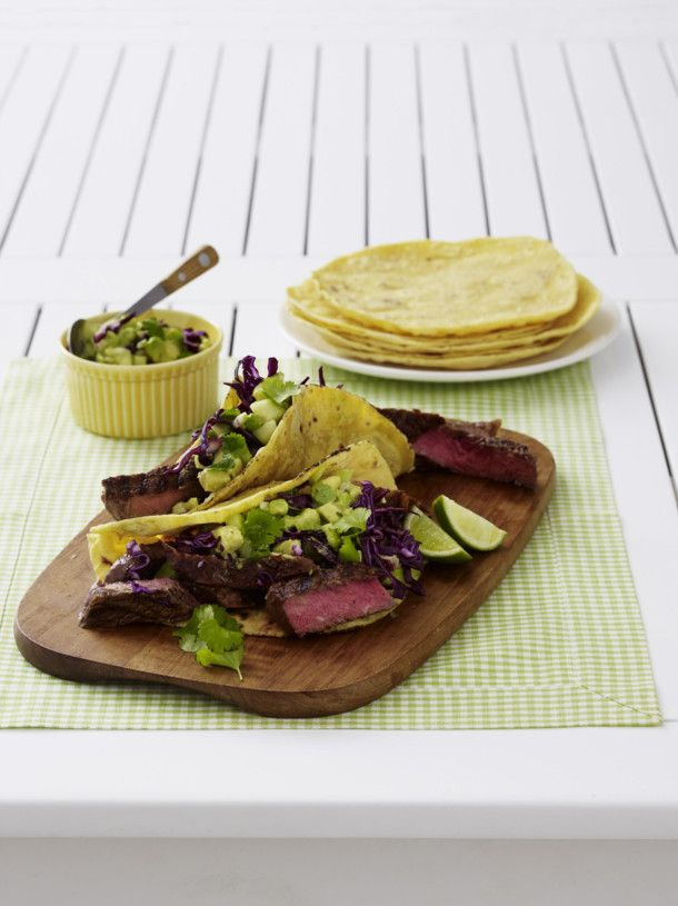Unser beliebtes Rezept für Chili-Rubbed Steak Tacos und mehr als 55.000 weitere kostenlose Rezepte auf LECKER.de.