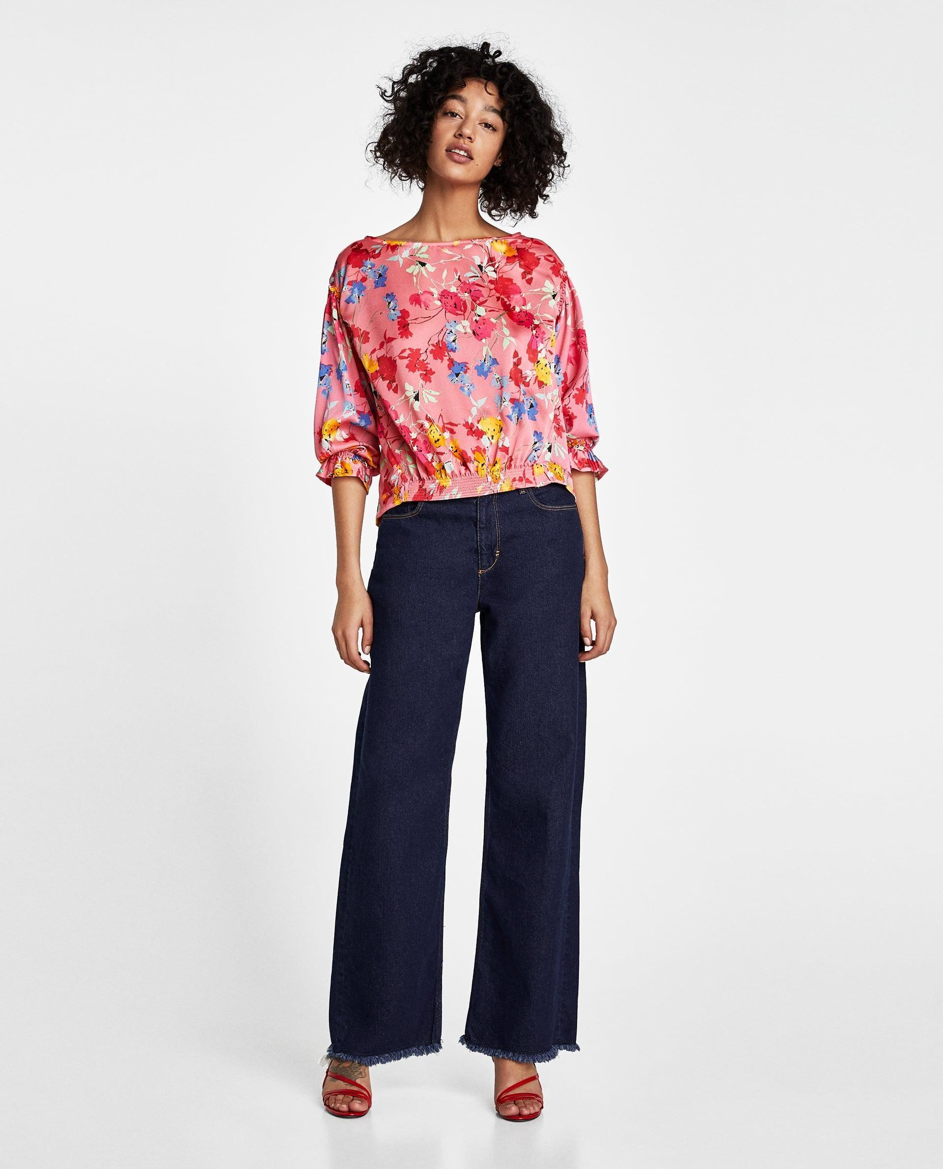 5f439f175ca Zara Flowing Floral Print Blouse