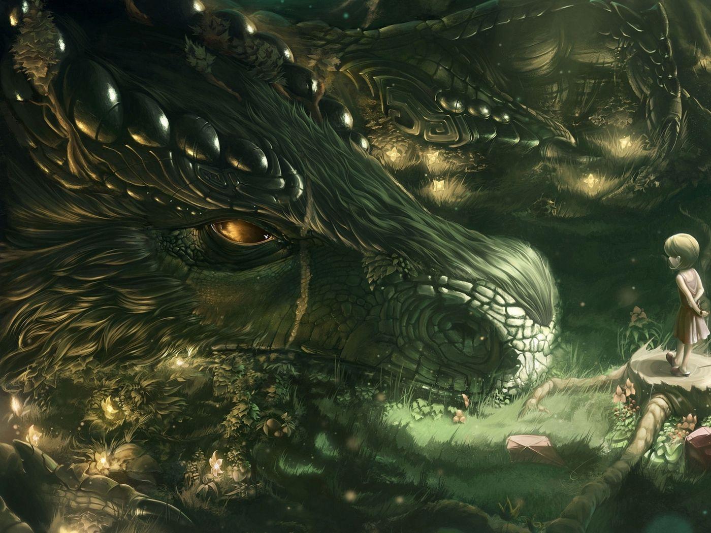 Dragon Girl Forest Art Wallpaper Beautiful Dragon Dragon Girl Fantasy Dragon