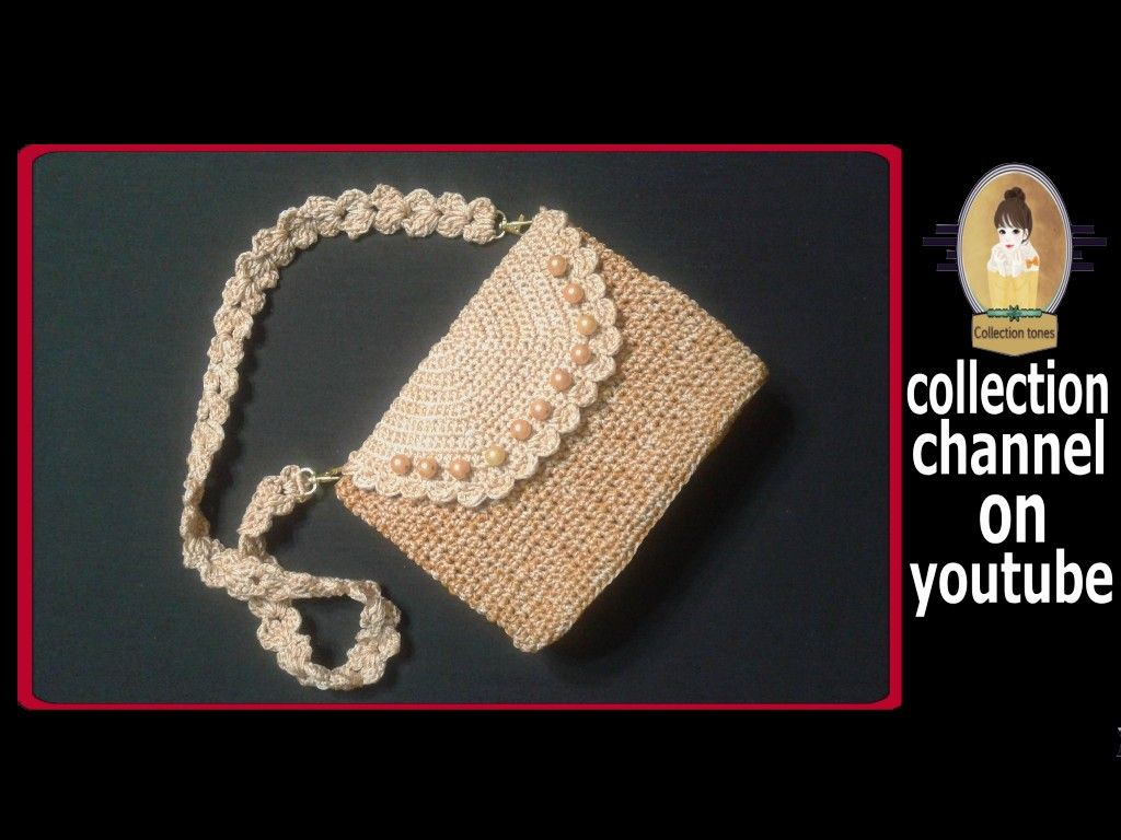كروشيه شنطه كروس سهله وبسيطه خطوه بخطوه Crochet Handbag Tutorial Step By Step Crochet Bags Purses Purses And Bags Crochet Bag
